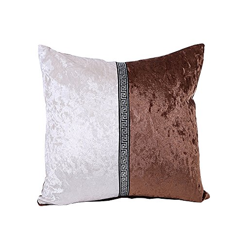 Kinghard Porcelain Pillow Case Cafe Home Decor Cushion Covers (Coffee)