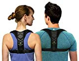 Mbracefully Ultra Comfortable Posture Corrector for Women and Men Corrective Clavicle Brace with Adjustable Shoulder and Back Straps for Premium Support – Thoracic Lower Back Pain Relief (Medium)
