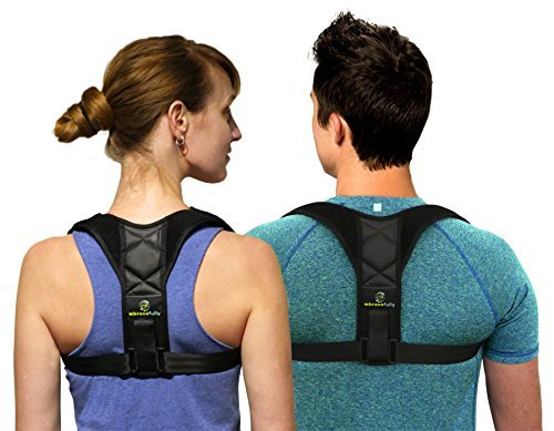 Mbracefully Ultra Comfortable Posture Corrector for Women and Men Corrective Clavicle Brace with Adjustable Shoulder and Back Straps for Premium Support – Thoracic Lower Back Pain Relief (Medium) by Mbracefully