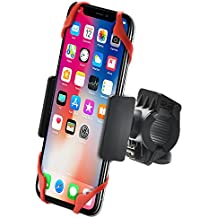 """Bestrix Bike & Motorcycle Cell Phone Bike Handlebar Mount Holder for Mountain & Road Bicycle iPhone 6 6S 7 Plus, Samsung Galaxy S5 S6 S7 S8 Edge / Plus Note 2 3 4 5 LG G3 G4 G5 G6 all smartphones 5.7"""""""