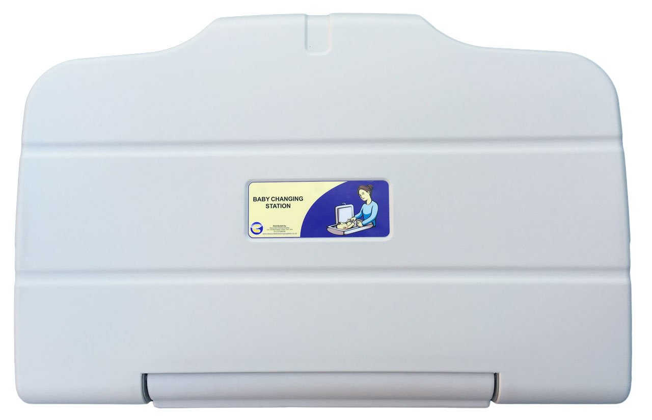 Baby Changing Table Horizontal Wall Mounted- White - Discounted Cleaning Supplies