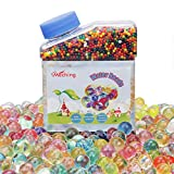 Water Gel Beads 9OZ (40000 pcs) Rainbow Mix Jelly Water Growing Balls for Kids Tactile Sensory Toys, Vases, Plants, Wedding and Home Decoration