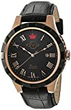 GV2 by Gevril Scacchi Mens Swiss Automatic Black Leather Strap Watch, (Model: 9505)