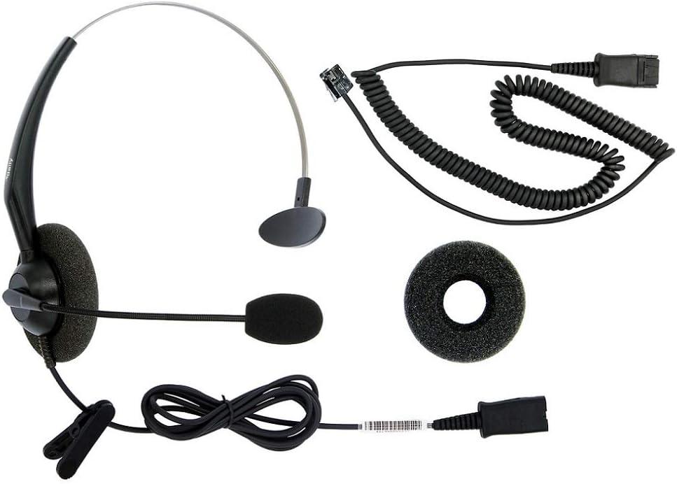 RJ9 Corded Phone Headset for Corded Home Telephones Office Analog Phones Aastra Avaya Polycom Digium Mitel ShoreTel NEC Phone