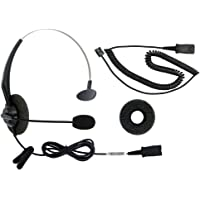 DailyHeadset RJ9 Corded Phone Headset Auriculares Oficina IP VoIP Analog Teléfonos para Aastra Avaya Digium Mitel NEC Polycom ShoreTel Toshiba Teléfono