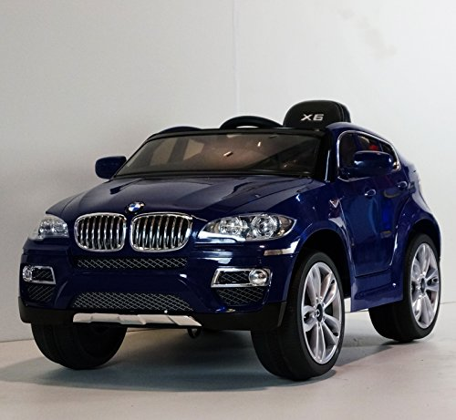 Children Ride On Electric Car Baby Blue Bmw X6 With