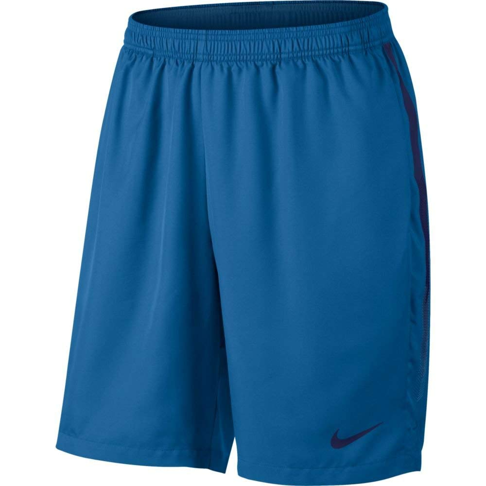 Nike Men's Court Dry 9'' Short (Military Blue/Blue Void, X-Small) by Nike (Image #1)