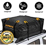 AUPERTO Cargo Bag, Waterproof Roof Storage Bag for Truck ATV Canvas Jeep(15 Cubic Feet)