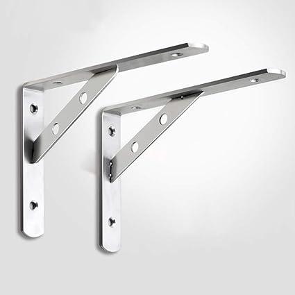 Simple, Non Paire LP Brackets Support De Tablette Robuste Charge Maximale: 250 Kg Support De Coin /à Angle Droit en Forme De L en Fer Noir /éPais pour Connecteur De Meuble Suspendu