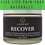 ADHEMP Doctor Recommended Organic Hemp Pain Relief Therapy for Arthritis, Back, Knee, Hands