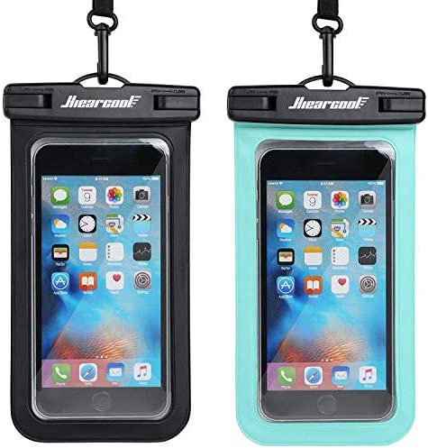 "Universal Waterproof Case,Waterproof Phone Pouch Compatible for iPhone 11 Pro Max XS Max XR X 8 7 6S Plus Samsung Galaxy s10/s9 Google Pixel 2 HTC Up to 7.0"", IPX8 Cellphone Dry Bag -2 Pack"