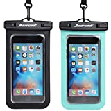 Hiearcool Universal Waterproof Case,Waterproof Phone Pouch for iPhone Xs XR Samsung Galaxy IPX8 Cellphone Dry Bag 2Pack up to 7 inches (Black Green): more info