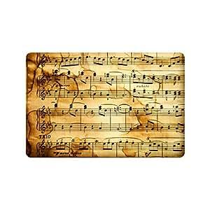 """Custom música notas Patrón """"nuevo estilo de interior/al aire libre Felpudo (23,6(L) X 15,7(W)"""