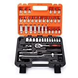 Hyshina 53pcs Socket Set Car Repair Tool Ratchet Set Torque Wrench Combination Bit a set of keys Chrome Vanadium Universal Hardware Kit