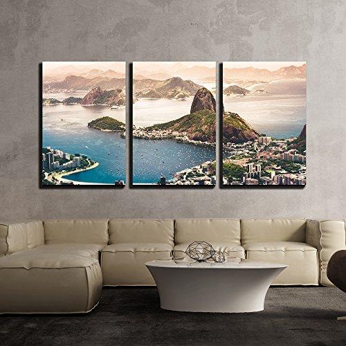 Sugarloaf Mountain in Rio De Janeiro Brazil x3 Panels