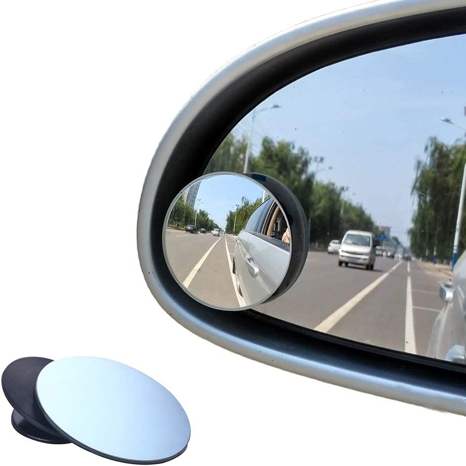 KOKOMALL Auto Toter Winkel Runde Randlos Konvexen Spiegel Rearview 360 Weitwinkel Einstellbare