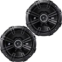 2) Kicker 43DSC6704 D-Series 6.75 240W 2-Way 4-Ohm Car Audio Coaxial Speakers