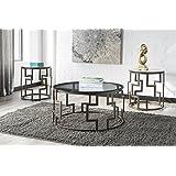 Ashley Frostine 3 Piece Coffee Table Set in Dark Bronze