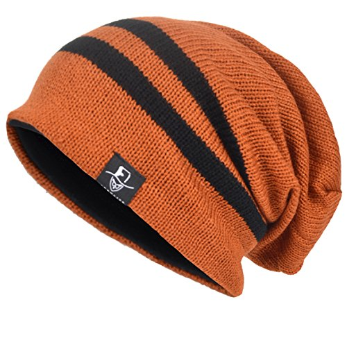 VECRY Mens Slouchy Beanie Knit Skull Cap Long Baggy Hip-hop Winter Summer Hat B305 ()