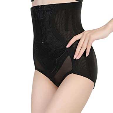 7ee83ae68fa1 AOBRITON Women High Waist Slimming Control Panties Abdomen Belly Shaper  Tummy Trimmer Butt Lifter at Amazon Women's Clothing store: