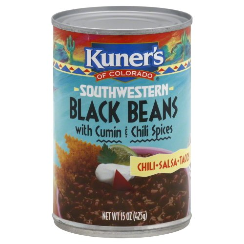 Kuner's Black Beans with Spices, 15-ounces (Pack - Kuners Beans