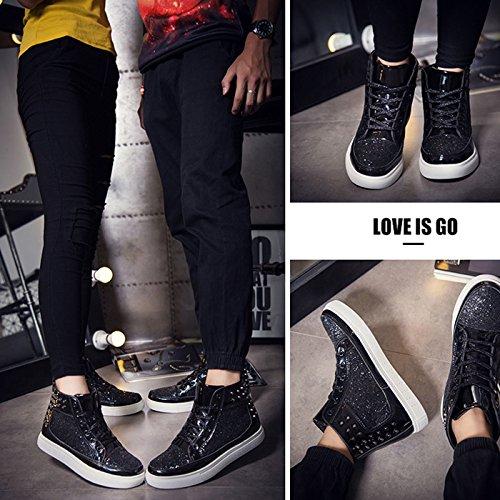 Noir Loisirs Couple Montantes Bottes hop Chaussures De Femme Hip Chaussure Homme Mode Chnhira Baskets qXTO11