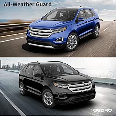 OEDRO Floor Mats Compatible for 2015-2020 Ford Edge, Unique Black TPE All-Weather Guard Includes 1st and 2nd Row: Front, Rear, Full Set Liners: Automotive