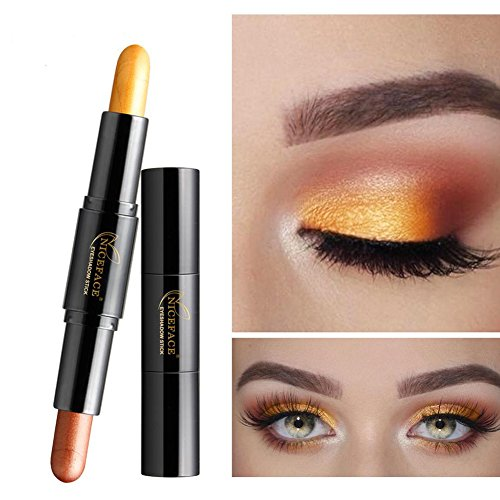 Eyeshadow Stick, 8 Colors Double-headed Eyeshadow Pencil Highlighter Shimmer Waterproof Long Lasting Eye Shadow Cream Pen Makeup Cosmetic(#1): Amazon.co.uk: ...