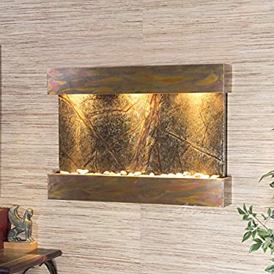 Reflection Creek Water Feature with Rustic Copper Trim and Square Edges