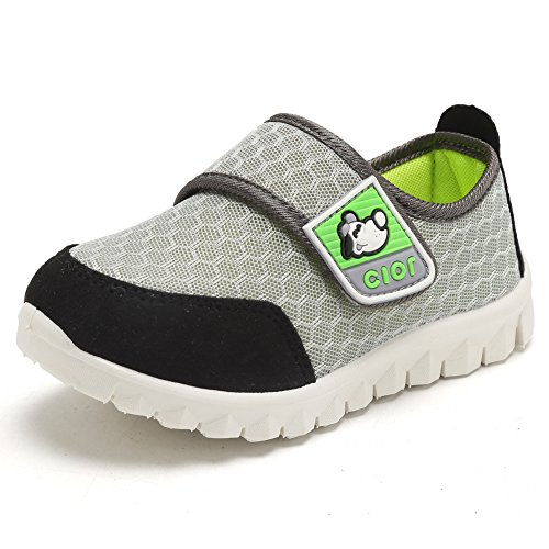 CIOR Kid's Mesh Lightweight Sneakers Baby Breathable Slip-On For Boy and Girl's Running Beach Shoes(Toddler/Little Kid) 24