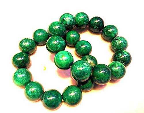 A+ 16mm Genuine Phoenix Gemstone Green Smooth Bead,8inch Bracelet,large gem bead by daybeads (Image #2)
