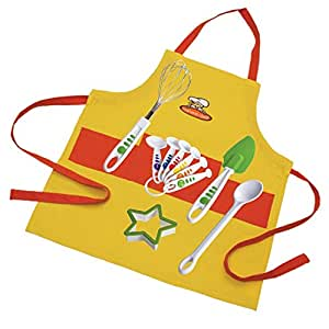 Curious Chef 11 Piece Child Chef Starter Kit, Orange/Yellow
