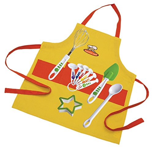 Curious Chef TCC50212 11 Piece Child Chef Starter Kit, Orange/Yellow