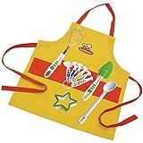 Curious Chef 11 Piece Child Chef Starter Kit, Orange/Yellow