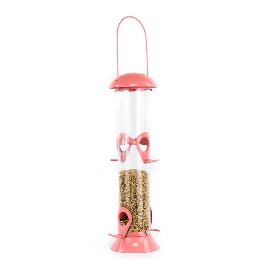 JXXDDQ Mangiatoia per uccelli Cuore di Girasole e miscele di sementi Impiccato Tubo di Alimentazione per Piccoli Uccelli (colore   rosa)