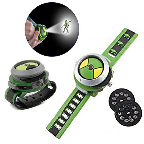 (HITSAN Kids Projector Watch Toys Christmas Gifts For Ben 10 One Piece)