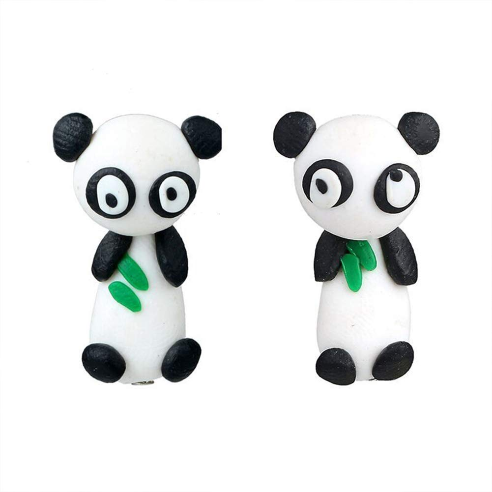 Lovely Handmade Polymer Clay Cartoon Panda Ear Studs Women Earrings Jewelry - Panda