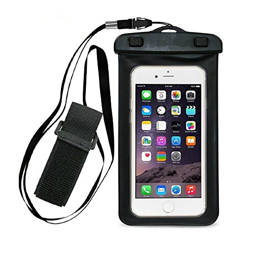 Rca Behind The Neck Headphones (Universal Waterproof Case,Pama CellPhone Dry Bag for Apple iPhone 6S 6,6S Plus, SE 5S, Samsung Galaxy S7, S6 Note 5 4, HTC LG Sony Nokia Motorola up to 6.0