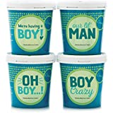 eCreamery It's a Boy New Baby or Gender Reveal Gift - Premium Ice Cream 4 pack