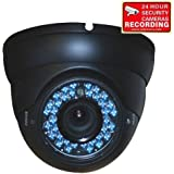 VideoSecu Dome Outdoor CCD Vandal Proof Security Camera Day Night Vision 480TVL 36 IR Infrared Leds 4-9mm Zoom Focus Varifocal for Home CCTV DVR Surveillance System 1K2