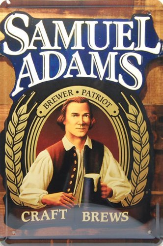 - Samuel Adams Beer, Metal Tin Sign, Tin Poster, Vintage Style Wall Ornament Coffee Decor, Size 8