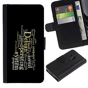 Paccase / Billetera de Cuero Caso del tirón Titular de la tarjeta Carcasa Funda para - Deep Message - Samsung Galaxy S3 MINI NOT REGULAR! I8190 I8190N