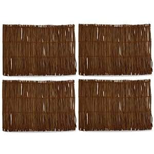 Basic Textiles Twig Placemat (Set of 4) Color: Chestnut