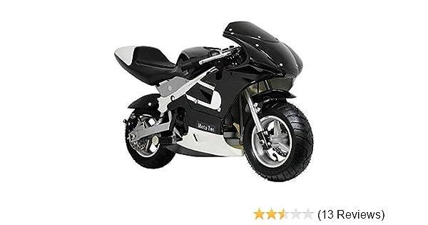 MotoTec Gas Pocket Bike Motorcycle -Black - Non CA compliant