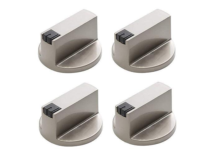 cercare andare online nuovi stili Vinallo, 4 manopole universali per fornello a gas, colore argento ...