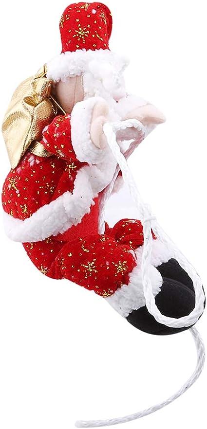 CHRISTMAS SANTA CLAUS CLIMBING ROPE SHOWCASE XMAS TREE WINDOW HANGING DECOR GIFT