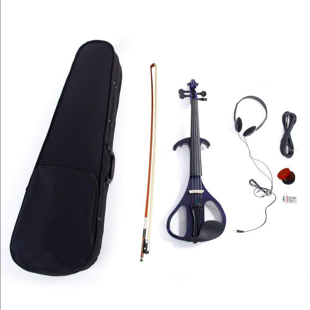 4/4'' LJ1 Crystal Purple Electric/Silent Violin + Case + Rosin + Head Set + Bow + Connecting Line