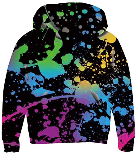 UNICOMIDEA Sweaters for Teen Girls Hoodies Funny Shadow Pullover Cool Lightning Printed Hoodie with Kangaroo Pocket for 8-11T -