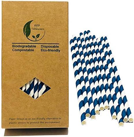 Striped Drinking Straws Aegean Stripe product image