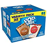 Pop-Tarts Breakfast Toaster Pastries, Flavored Variety Pack, Frosted Brown Sugar Cinnamon, Frosted Strawberry, 32 Count